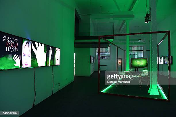 A general view at the Bvlgari and Save The Children Unveiling of #RaiseYourHand Campaign at Maxxi Museum on July 8 2016 in Rome Italy