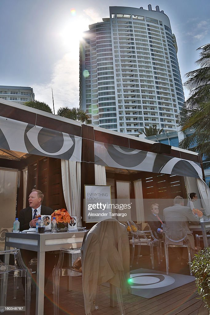 General view at the CBS Television Distribution cabana during NATPE at Fontainebleau Miami Beach on January 29, 2013 in Miami Beach, Florida.