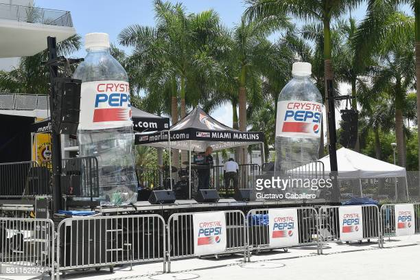 General view at the Crystal Pepsi Throwback Tour At Marlin's Park on August 13 2017 in Miami Florida