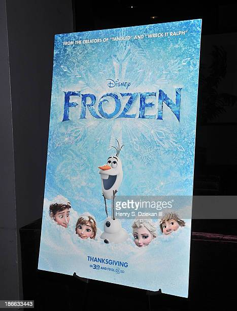 A general view at the Disney The Cinema Society screening of 'Frozen' at Tribeca Grand Hotel on November 2 2013 in New York City