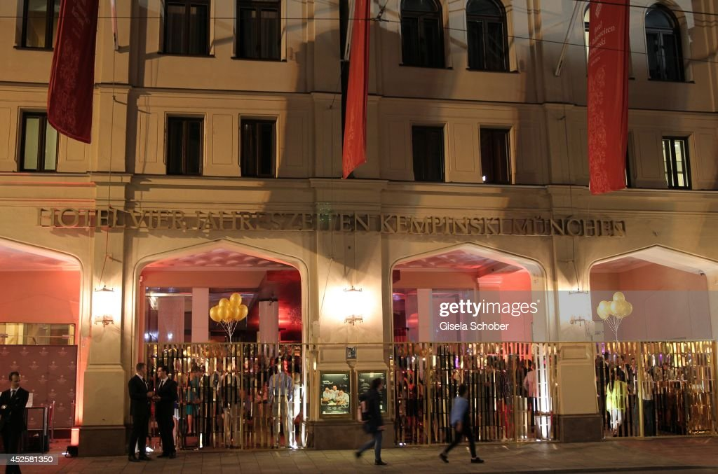 A general view at the Eclat Dore summer party at Hotel Vier Jahreszeiten Kempinski on July 23, 2014 in Munich, Germany.