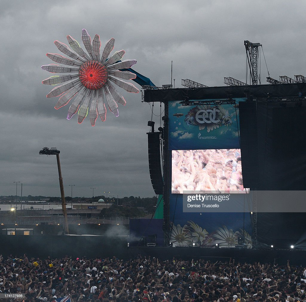 A general view at the Electric Daisy Carnival: London 2013 at Queen Elizabeth Olympic Park on July 20, 2013 in London, England.