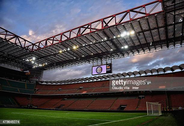 A general view at the end of the Serie A match between FC Internazionale Milano and Juventus FC at Stadio Giuseppe Meazza on May 16 2015 in Milan...