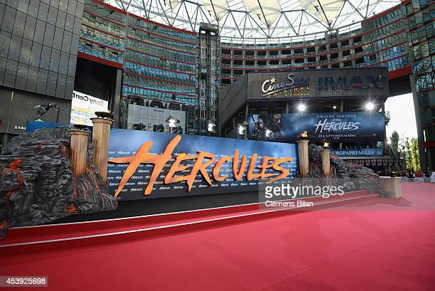 A general view at the Europe premiere of Paramount Pictures 'Hercules' at CineStar on August 21 2014 in Berlin Germany