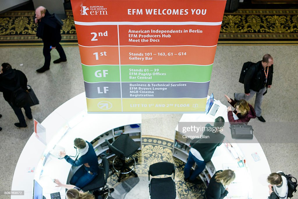 A general view at the European Film Market during the 66th Berlinale International Film Festival Berlin at Martin Gropius Bau on February 12, 2016 in Berlin, Germany.