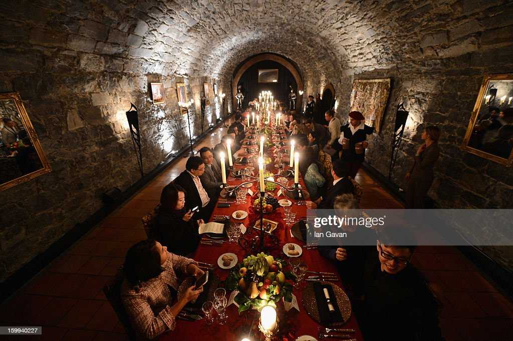A general view at the Excalibur Dinner hosted by Roger Dubuis during the 23rd Salon International de la Haute Horlogerie at Caves des Vollandes on January 22, 2013 in Geneva, Switzerland.