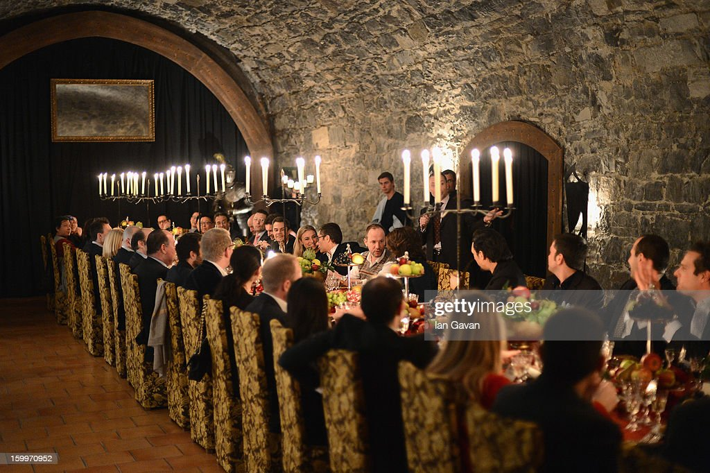 A general view at the Excalibur Dinner hosted by Roger Dubuis during the 23rd Salon International de la Haute Horlogerie at Caves des Vollandes on January 23, 2013 in Geneva, Switzerland.