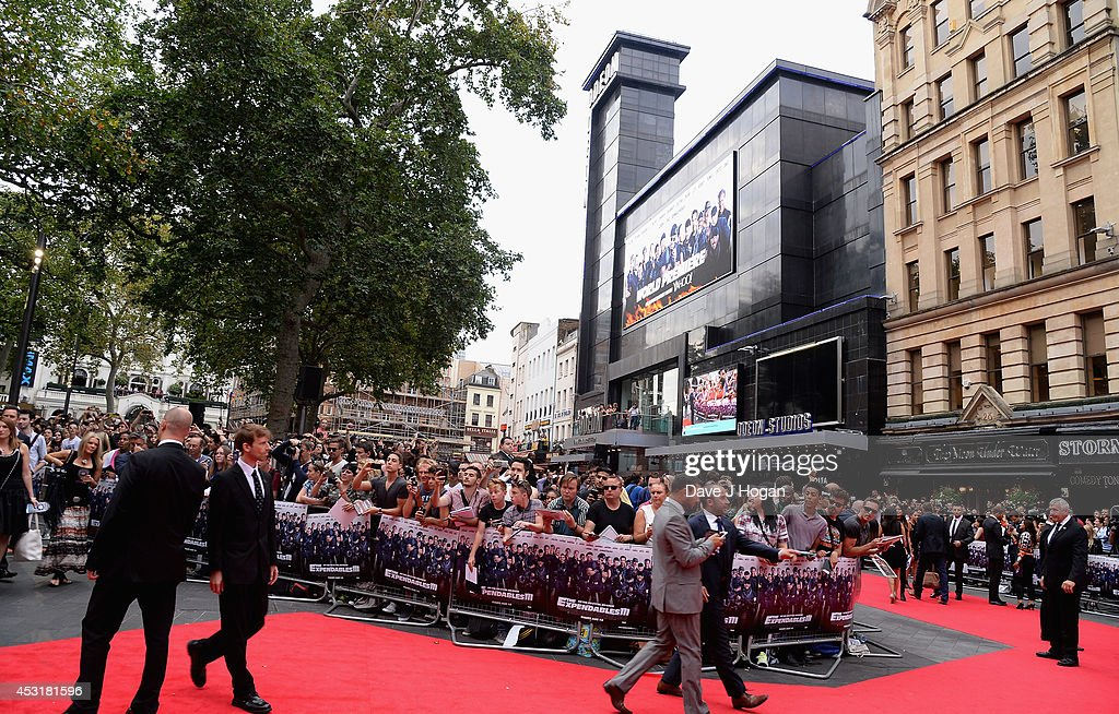 A general view at 'The Expendables 3' World Premiere at the Odeon Leicester Square on August 4 2014 in London England The Expendables 3 is released...