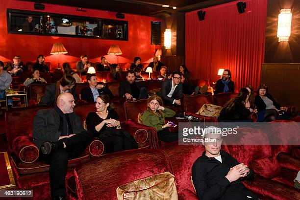A general view at the film premiere screening of short movies of Glashuette Original at the Soho House during the 65th Berlinale International Film...