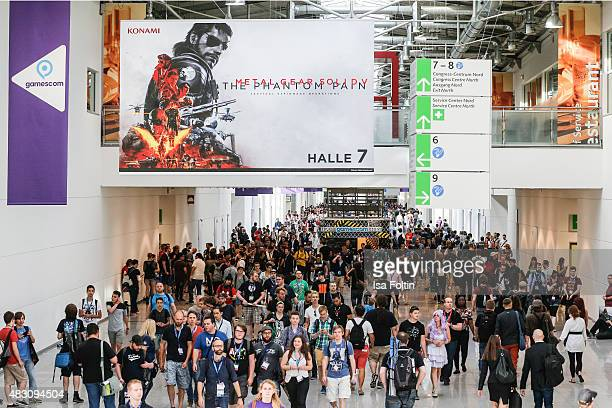 A general view at the Gamescom 2015 gaming trade fair during the media day on August 5 2015 in Cologne Germany Gamescom is the world's largest...