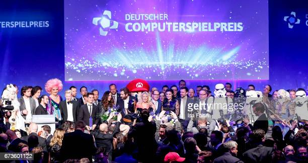 General view at the German Computer Games Award 2017 at WECC on April 26 2017 in Berlin Germany