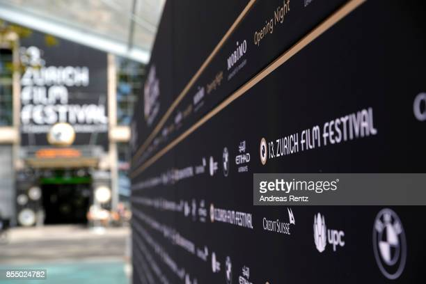 A general view at the green carpet ahead the 13th Zurich Film Festival on September 28 2017 in Zurich Switzerland The Zurich Film Festival 2017 will...