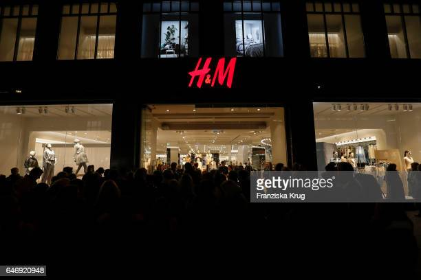 General view at the HM X Grazia flagship store opening on March 1 2017 in Hamburg Germany