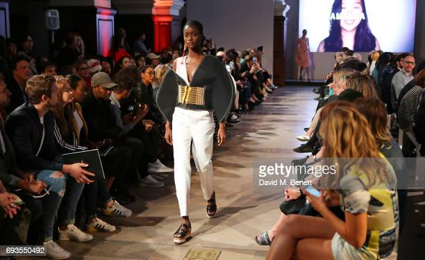 A general view at the Istituto Marangoni Graduate Fashion Week Catwalk Show at Christ Church on June 7 2017 in London England