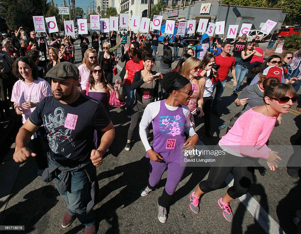 A general view at the kick-off for One Billion Rising in West Hollywood on February 14, 2013 in West Hollywood, California.