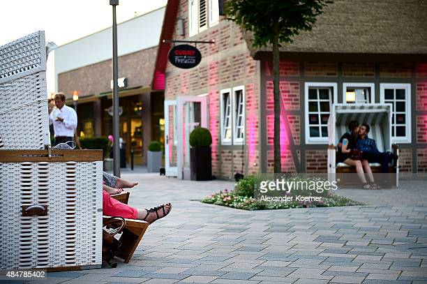 General view at the Late Night Shopping at Designer Outlet Soltau on August 21 2015 in Soltau Germany