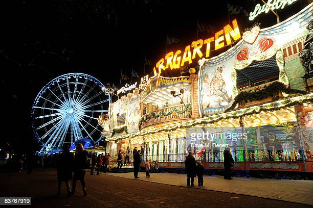 A general view at the launch party for Winter Wonderland in Hyde Park on November 20 2008 in London England