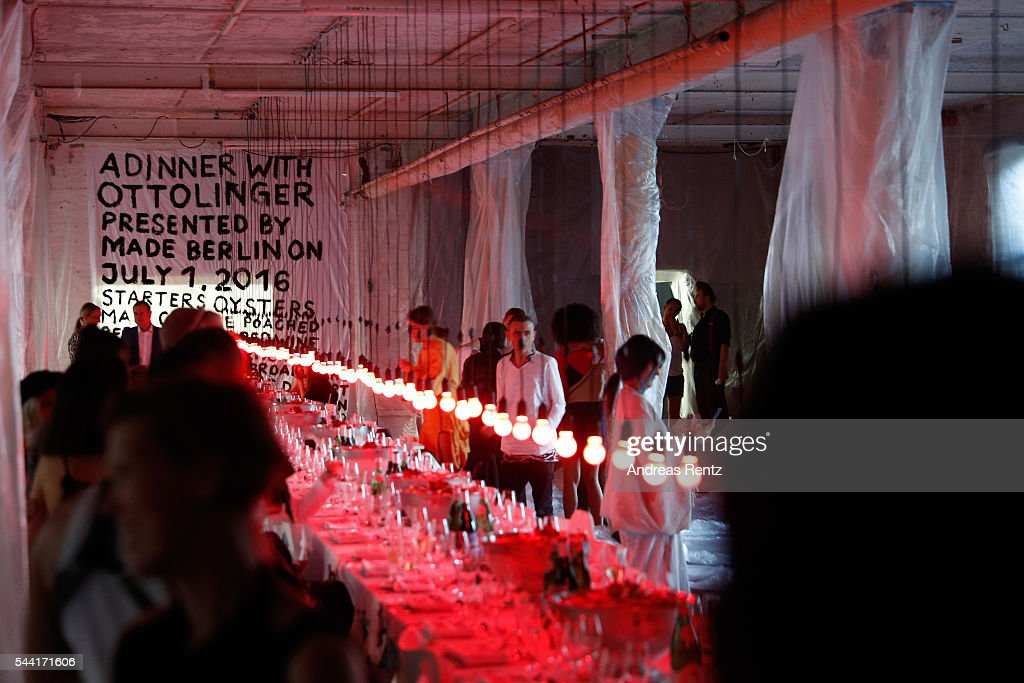 General view at the Made Berlin Dinner during the Mercedes-Benz Fashion Week Berlin Spring/Summer 2017 at Alte Teppichfabrik on July 1, 2016 in Berlin, Germany.