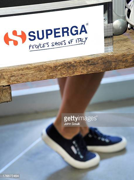 A general view at the Man Repeller X Superga Launch Party at Fred Segal Santa Monica on August 15 2013 in Santa Monica California