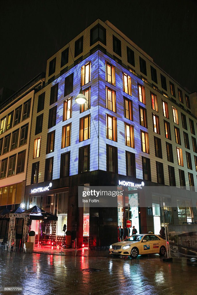 Outside view of the Montblanc House Opening on February 09, 2016 in Hamburg, Germany.