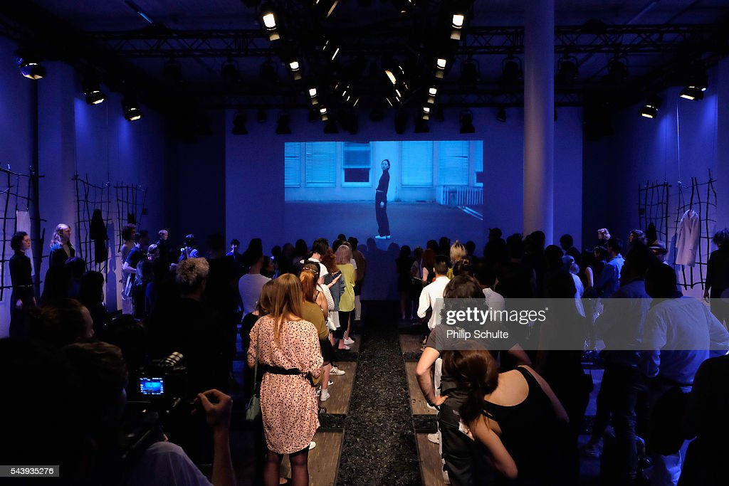 A general view at the Nathini van der Meer show during the Mercedes-Benz Fashion Week Berlin Spring/Summer 2017 at Stage at me Collectors Room on June 30, 2016 in Berlin, Germany.