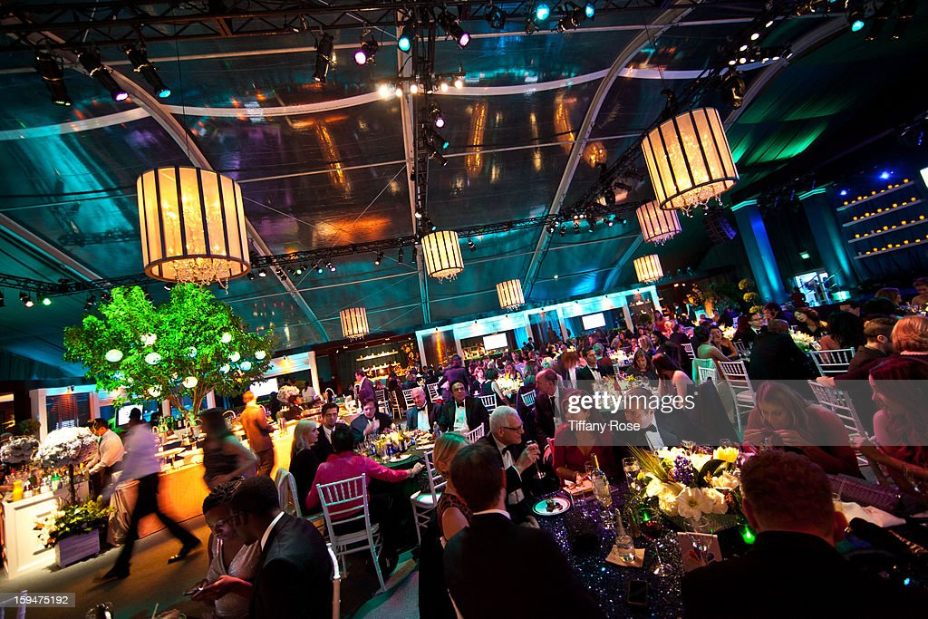A general view at the NBC/Universal/Focus Features/E! Networks Golden Globe Awards Celebration Designed And Produced By Angel City Designs at The Beverly Hilton Hotel on January 13, 2013 in Beverly Hills, California.