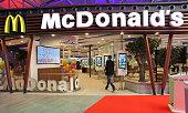 General view at the new McDonald's Flagship Restaurant at Frankfurt International Airport Terminal 2 on March 30 2015 in Frankfurt am Main Germany