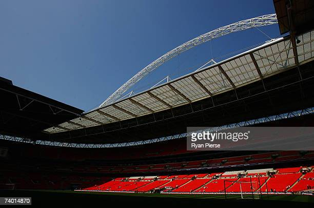 General view at the new Wembley Stadium prior to the International Friendly match between England Under 16s and Spain Under 16s at Wembley Stadium on...