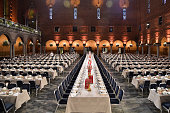 A general view at the Nobel Prize Banquet 2014 at City Hall on December 10 2014 in Stockholm Sweden