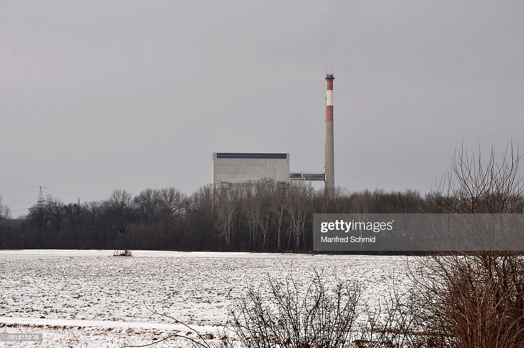 A general view at the nuclear power station during the 'Global 2000 Tomorrow Festival' press converence at nuclear power station AKW Zwentendorf on February 11, 2013 in Zwentendorf, Austria. The nuclear power station Zwentendorf was the power plant that never went into operation.