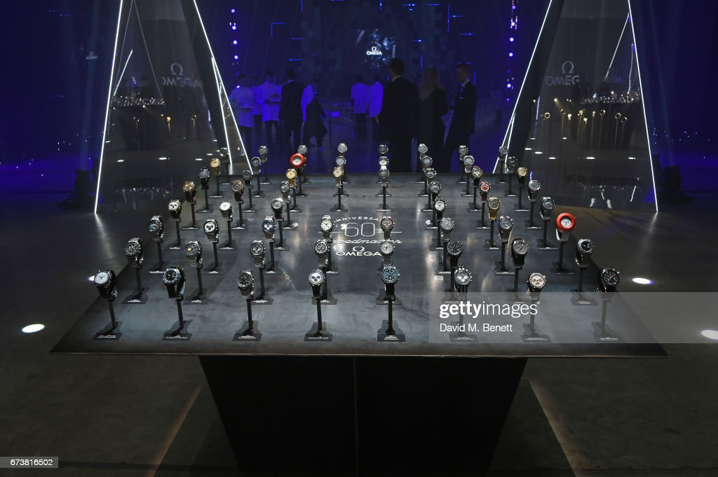 A general view at the OMEGA 'Lost In Space' dinner to celebrate the 60th anniversary of the OMEGA Speedmaster, which has been worn by every piloted NASA mission since 1965, at Tate Modern on April 26, 2017 in London, England.