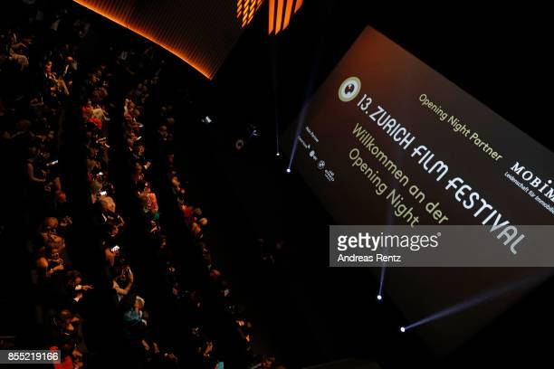 A general view at the opening ceremony and 'Borg vs McEnroe' premiere at the 13th Zurich Film Festival on September 28 2017 in Zurich Switzerland The...