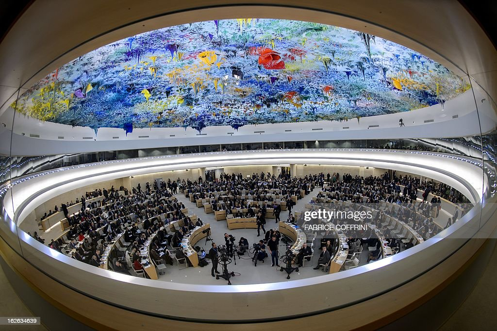 General view at the opening day of the 22nd session of the United Nations Human Rights Council on February 25, 2013 in Geneva. The Council kicks off with widespread abuses in North Korea and Mali the top items on the agenda, along with the crisis in Syria.