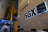 A general view at the reception area of the Singapore Exchange on July 27 2016 Asian markets mostly rose on July 27 as the Federal Reserve prepares...