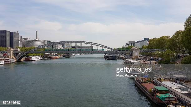 A general view at the river Seine on April 24 2017 in Paris France