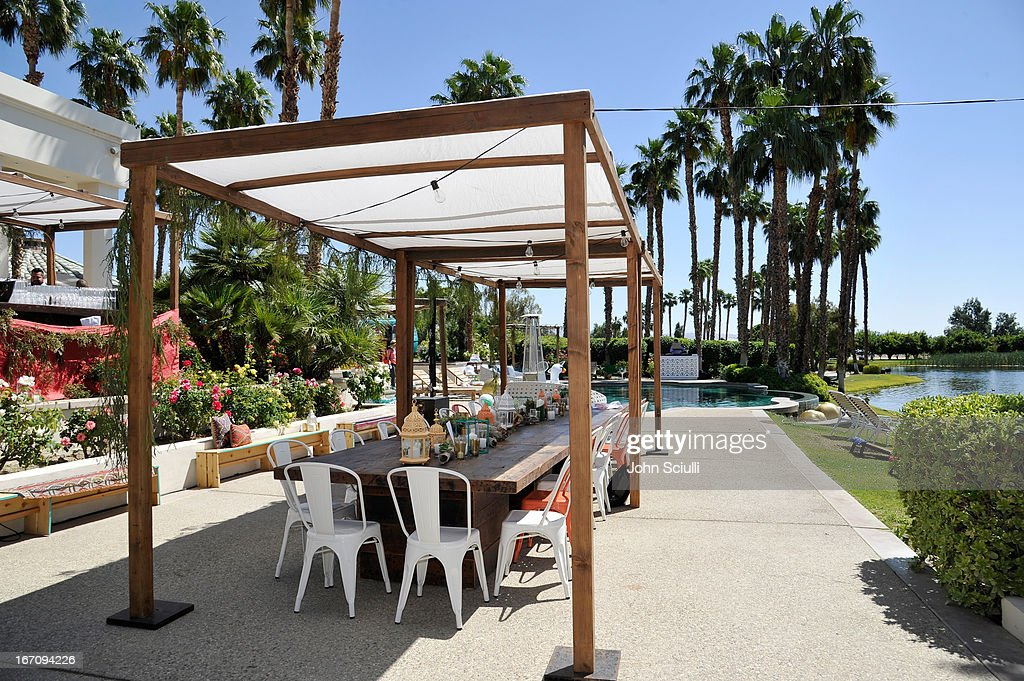 A general view at the Soho House Pop Up with Bacardi during Coachella 2013 at Merv Griffin Estate on April 19, 2013 in La Quinta, California.