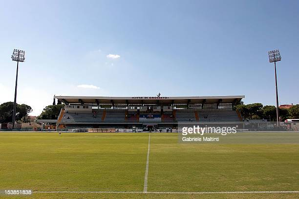 General view at the Stadio Olimpico before the Serie B match between US Grosseto FC and US Sassuolo at Stadio Olimpico on October 6 2012 in Grosseto...