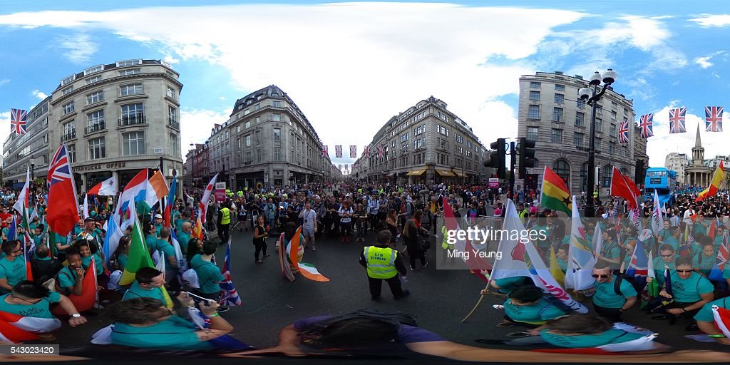 A general view at the start of the LGBT Pride in London on June 25, 2016 in London, England. Across the city performances and speeches take place as a parade makes it way through the centre ending in Trafalgar Square. 2016 Pride in London comes just two weeks after Omar Mateen shot dead 50 people at Pulse, a gay nightclub in Orlando, Florida.