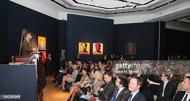 General view at the Terrence Higgins Trust 30th Anniversary Auction at Christie's King Street on March 21 2013 in London England