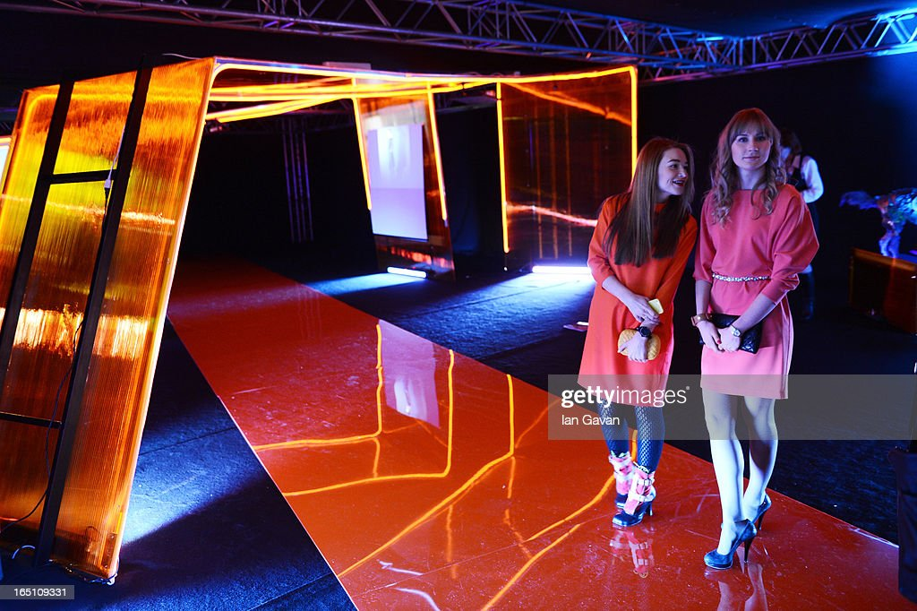 A general view at the 'Video Look Book' event presented by Moscow Art Industrial Institute during Mercedes-Benz Fashion Week Russia Fall/Winter 2013/2014 at Manege on March 30, 2013 in Moscow, Russia.