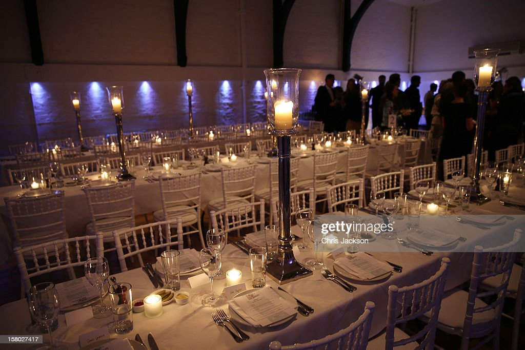 A general view at the VIP backstage dinner ahead of this year's Old Vic 24 Hour Musicals Celebrity Gala at The Old Vic Theatre on December 9, 2012 in London, England.