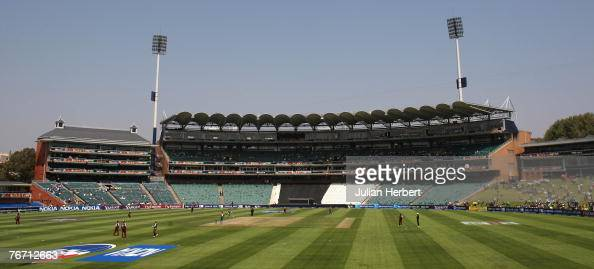 A general view at The Wanderers Cricket Ground during The ICC World Twenty20 Championship match between West Indies and Bangladesh on September 13...