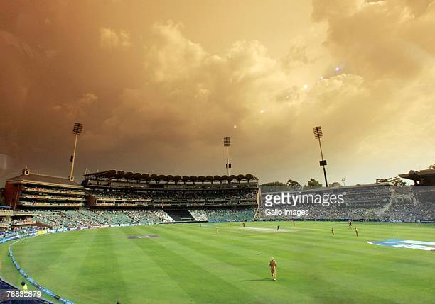 A general view at the Wanderers Stadium during the ICC Twenty20 Cricket World Cup match between Australia and Pakistan on September 18 2007 in...