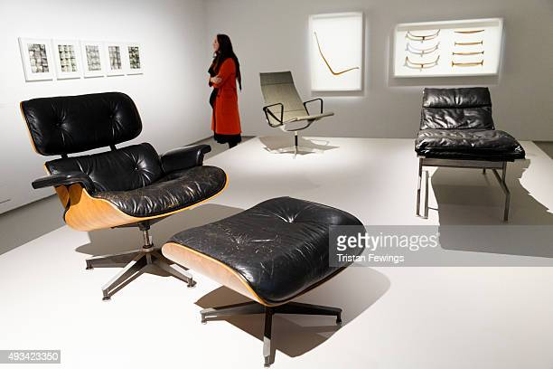 A general view at The World of Charles and Ray Eames exhibition at the Barbican Art Gallery at Barbican Centre on October 20 2015 in London England...