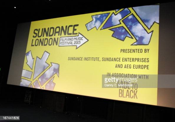 A general view at the'The Look Of Love' screening during the Sundance London Film and Music Festival 2013 at Sky Superscreen O2 on April 25 2013 in...