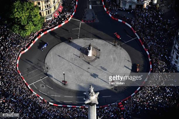 A general view at Trafalgar Square during F1 Live London at Trafalgar Square on July 12 2017 in London England F1 Live London the first time in...