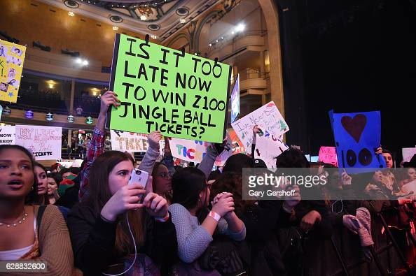 General view at Z100 CocaCola All Access Lounge at Z100's Jingle Ball 2016 Presented by Capital One preshow at Hammerstein Ballroom on December 9...