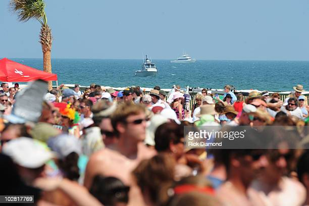 A general view atmosphere at Jimmy Buffett Friends Live from the Gulf Coast a concert presented by CMT at on the beach on July 11 2010 in Gulf Shores...