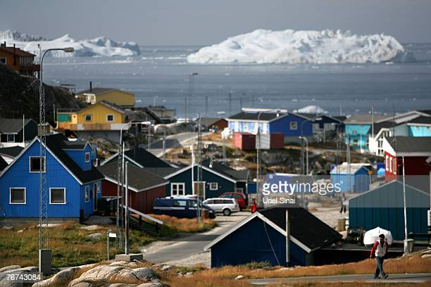 A general view August 30 of the town of Ilulissat Greenland Even though the disappearing ice cap could lead to higher sea levels all over the world...