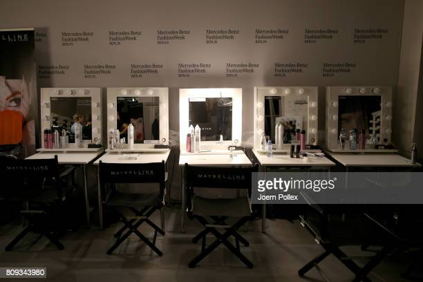A general view backstage ahead of the Atelier About show during the MercedesBenz Fashion Week Berlin Spring/Summer 2018 at Kaufhaus Jandorf on July 5...
